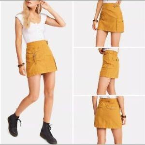 NWT Free People Size 8 Erika Utility Mini Skirt